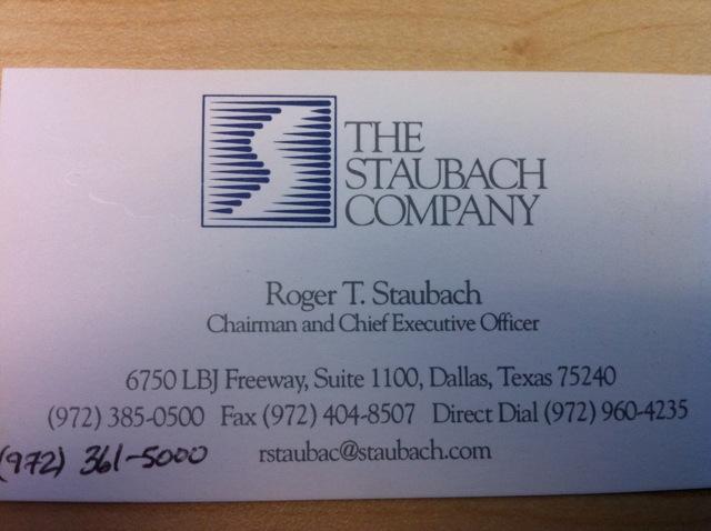 Roger Staubach card